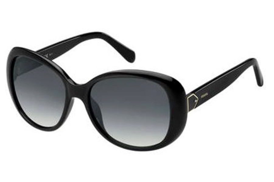Fossil FOSSIL 3080/S Sunglasses in 0807 Black (9O dark gray gradient lens)